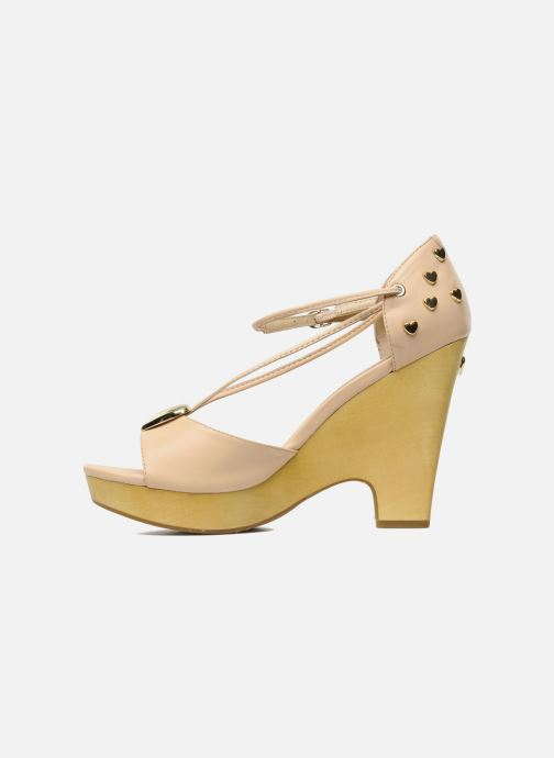 Sandales et nu-pieds Love Moschino Love Cipria Rose vue face