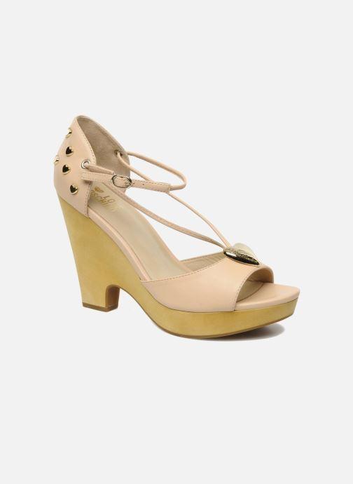 Sandales et nu-pieds Love Moschino Love Cipria Rose vue détail/paire