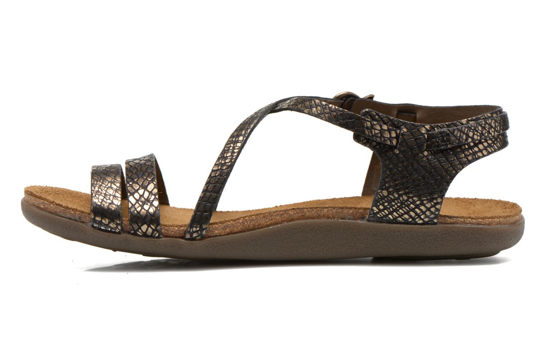 Sandales et nu-pieds Kickers Atomium Or et bronze vue face