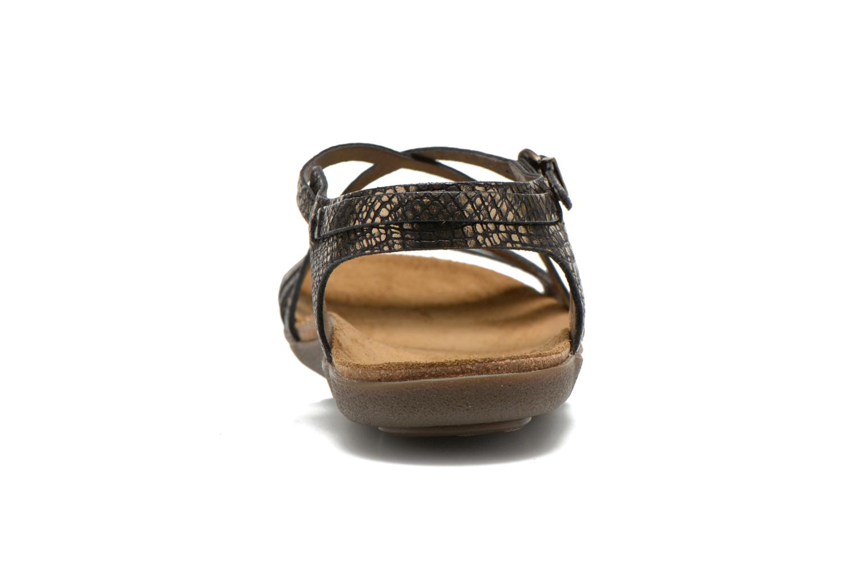 Sandales et nu-pieds Kickers Atomium Or et bronze vue droite