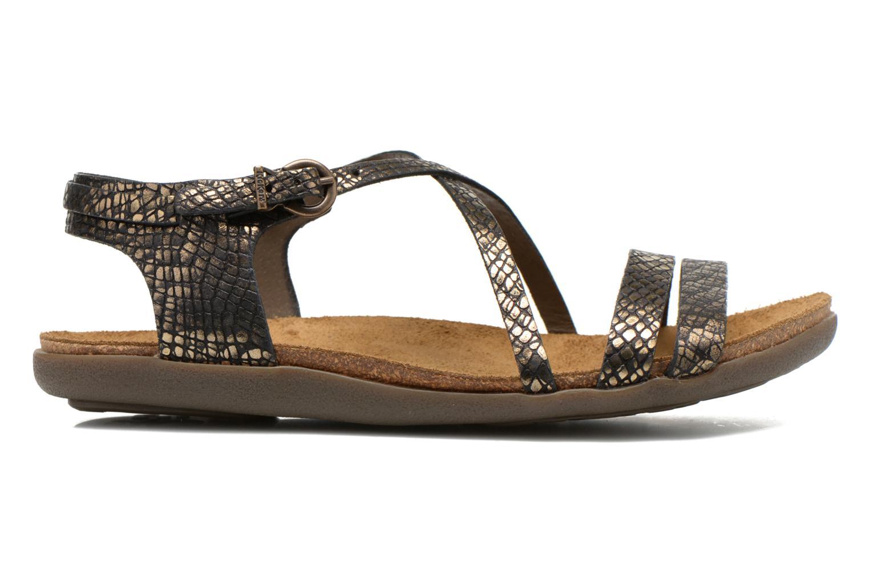 Sandales et nu-pieds Kickers Atomium Or et bronze vue derrière