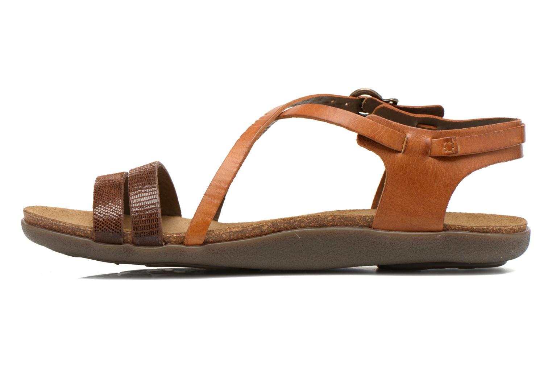 Sandalen Kickers Atomium Bruin voorkant