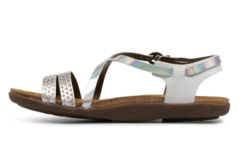Sandales et nu-pieds Kickers Atomium Blanc vue face