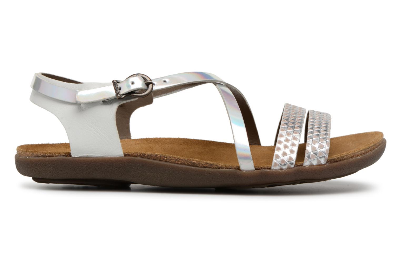 Sandales et nu-pieds Kickers Atomium Blanc vue derrière
