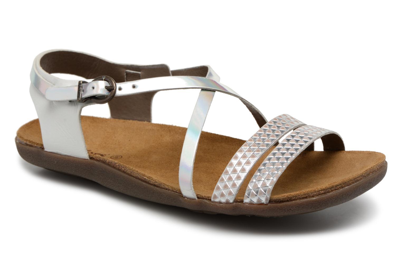 Sandales et nu-pieds Kickers Atomium Blanc vue détail/paire