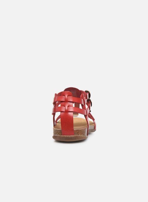 Sandalen Kickers Ana rot ansicht von rechts