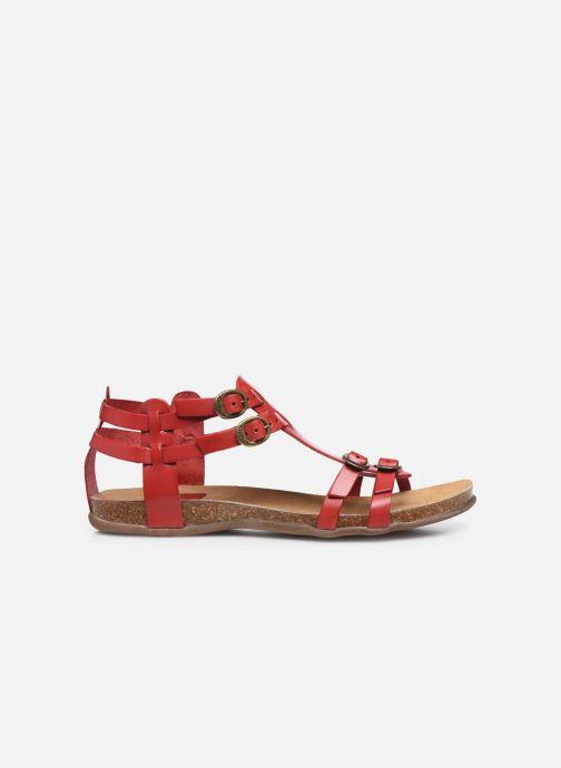 Sandalen Kickers Ana rot ansicht von hinten