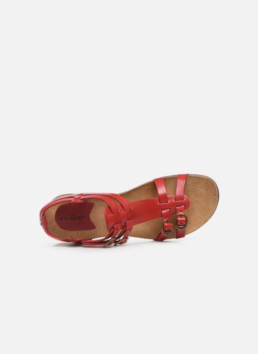 Sandalen Kickers Ana rot ansicht von links