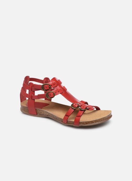 Sandales et nu-pieds Kickers Ana Rouge vue détail/paire