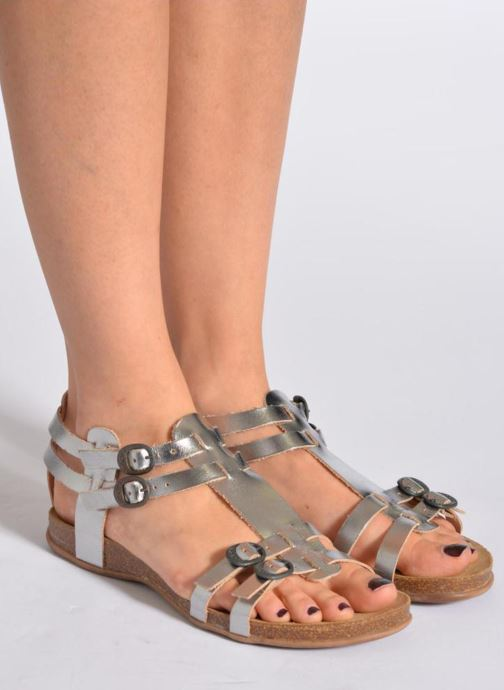 Sandales et nu-pieds Kickers Ana Orange vue bas / vue portée sac