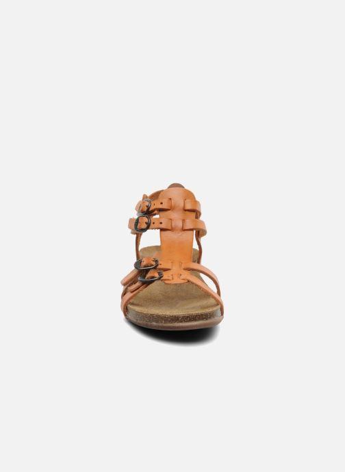 Sandales et nu-pieds Kickers Ana Orange vue portées chaussures