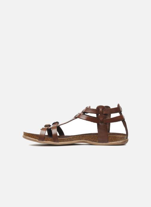 Sandales et nu-pieds Kickers Ana Marron vue face