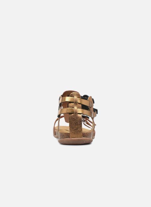 Sandales et nu-pieds Kickers Ana Or et bronze vue droite