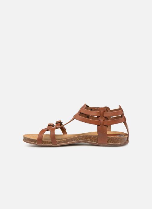 Sandalen Kickers Ana braun ansicht von vorne