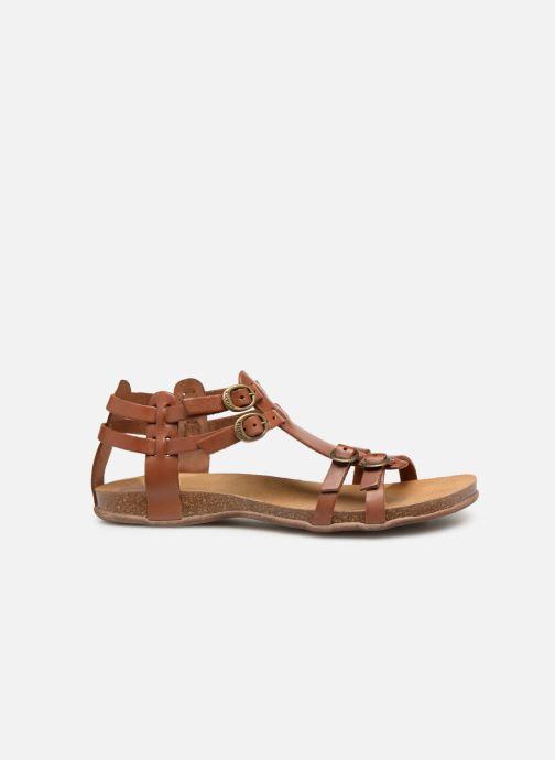 Sandales et nu-pieds Kickers Ana Marron vue derrière