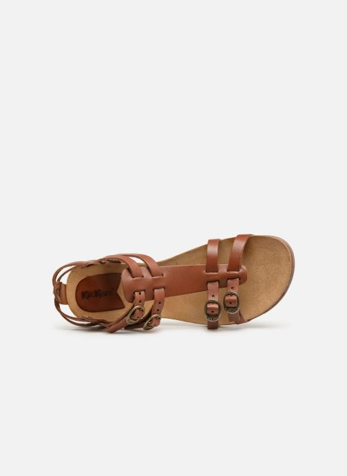 Sandales et nu-pieds Kickers Ana Marron vue gauche