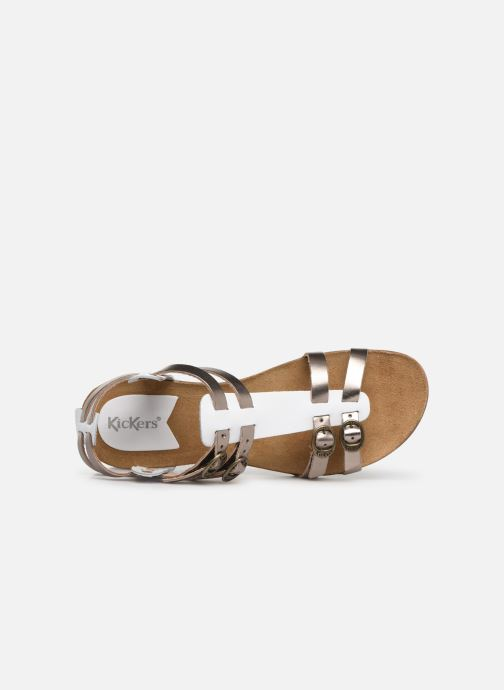 Sandales et nu-pieds Kickers Ana Or et bronze vue gauche