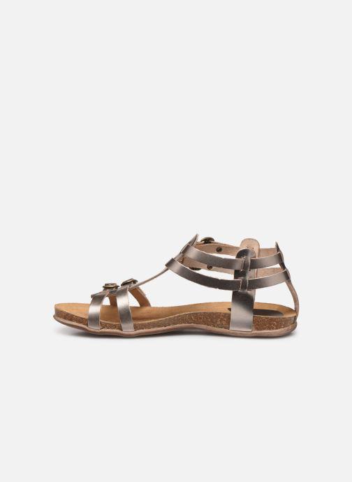 Sandales et nu-pieds Kickers Ana Or et bronze vue face