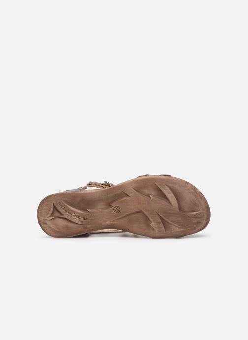 Sandales et nu-pieds Kickers Ana Or et bronze vue haut
