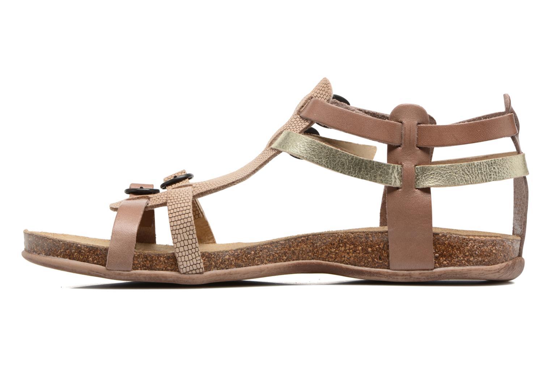 Sandales et nu-pieds Kickers Ana Beige vue face