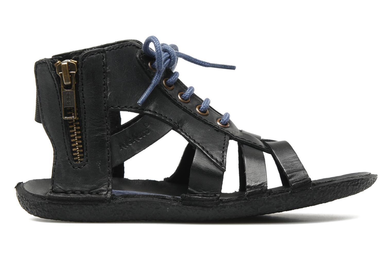 Sandales et nu-pieds Kickers PUNCHY E Noir vue derrière