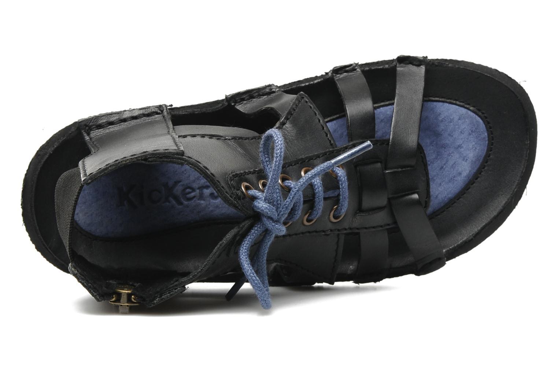 Sandales et nu-pieds Kickers PUNCHY E Noir vue gauche