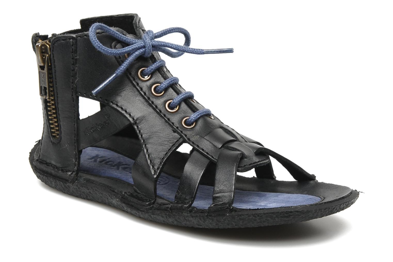 Sandales et nu-pieds Kickers PUNCHY E Noir vue détail/paire