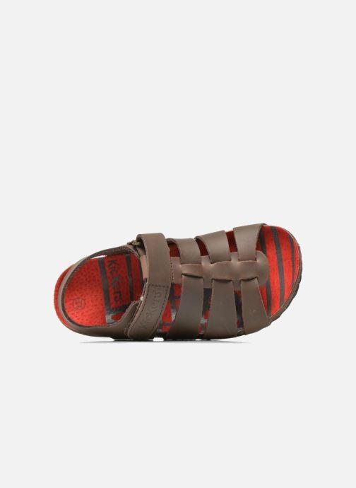 Sandalen Kickers MAGINO Bruin links