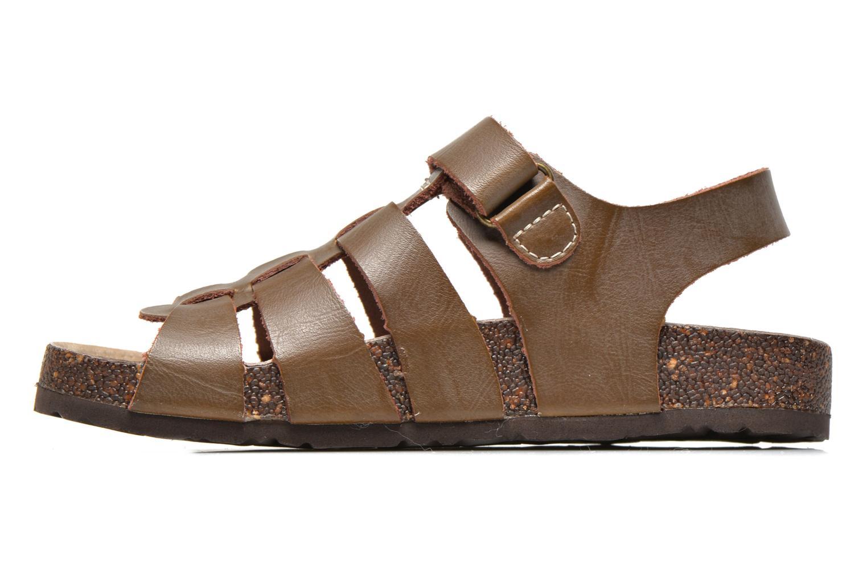 Sandales et nu-pieds Kickers MAGINO Marron vue face