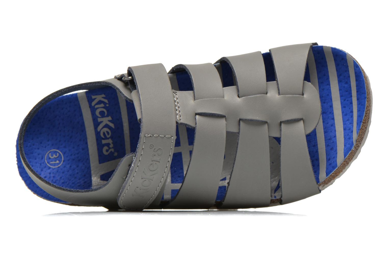 Sandali e scarpe aperte Kickers MAGINO Grigio immagine sinistra