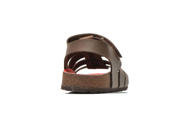 Sandales et nu-pieds Kickers MAGINO Marron vue droite