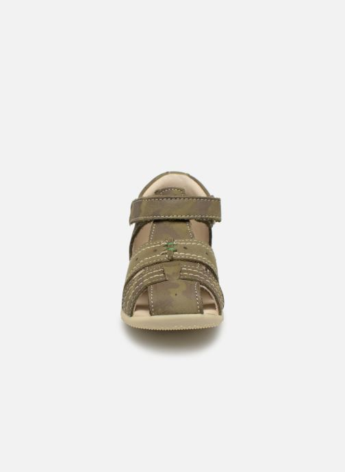 Sandales et nu-pieds Kickers BIGBAZAR Vert vue portées chaussures