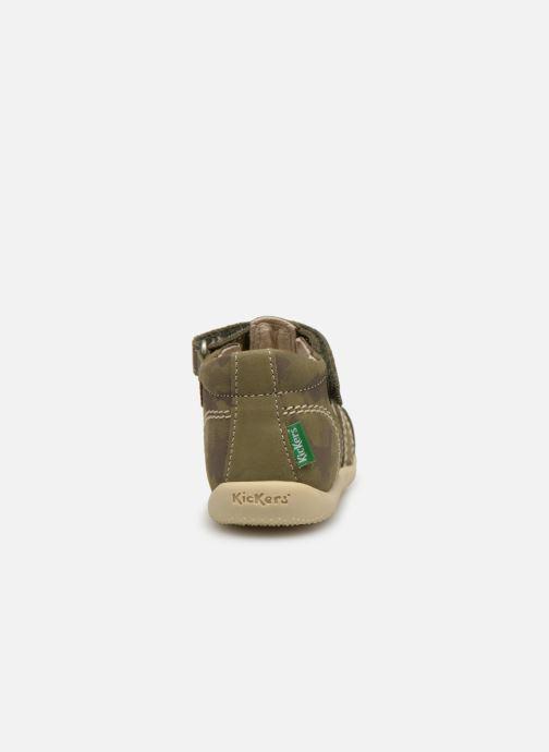 Sandales et nu-pieds Kickers BIGBAZAR Vert vue droite