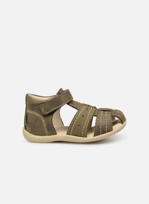 Sandalen Kickers BIGBAZAR grün ansicht von hinten