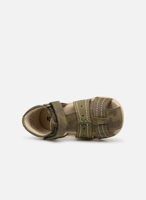 Sandales et nu-pieds Kickers BIGBAZAR Vert vue gauche