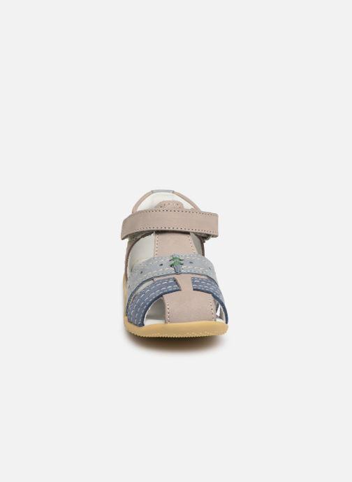 Sandales et nu-pieds Kickers BIGBAZAR Bleu vue portées chaussures
