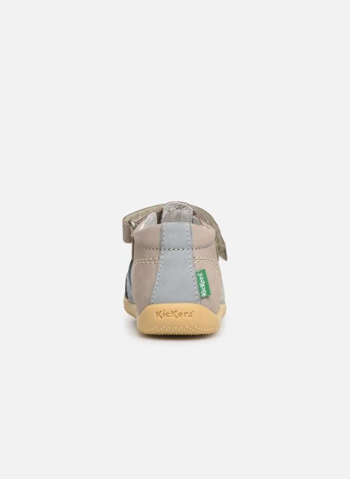 Sandales et nu-pieds Kickers BIGBAZAR Bleu vue droite