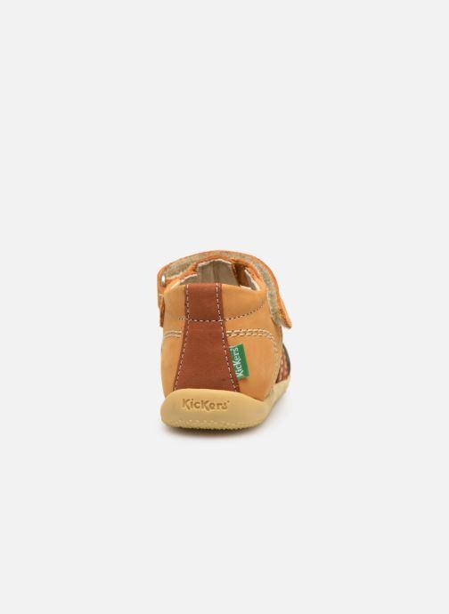 Sandales et nu-pieds Kickers BIGBAZAR Jaune vue droite