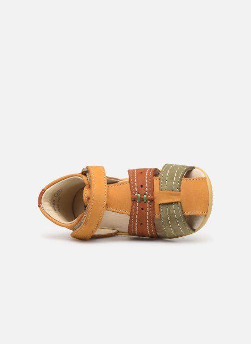 Sandales et nu-pieds Kickers BIGBAZAR Jaune vue gauche