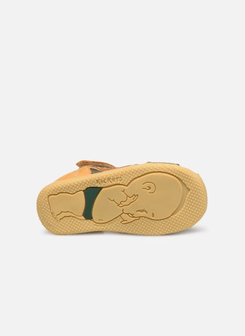 Sandales et nu-pieds Kickers BIGBAZAR Jaune vue haut