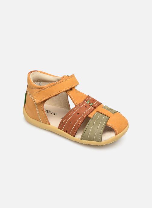 Sandales et nu-pieds Kickers BIGBAZAR Jaune vue détail/paire