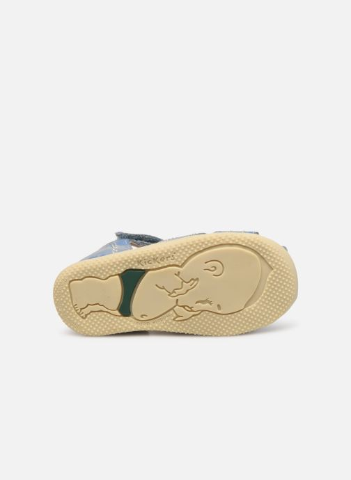 Sandales et nu-pieds Kickers BIGBAZAR Bleu vue haut