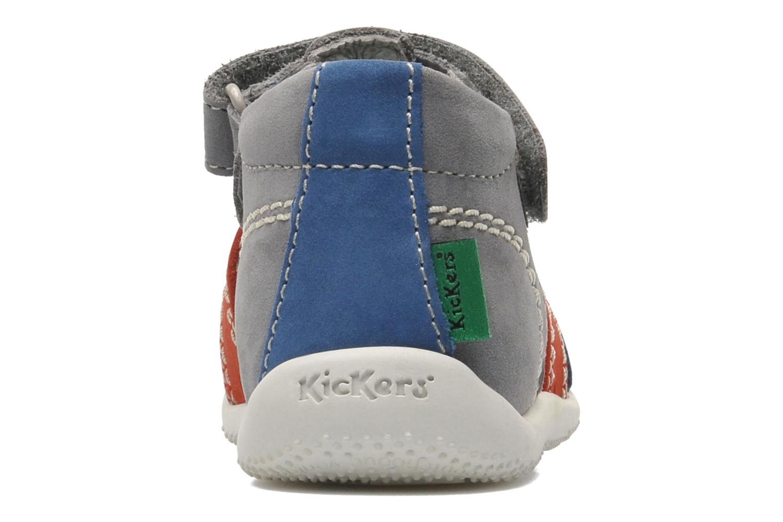 Sandales et nu-pieds Kickers BIGBAZAR Gris vue droite