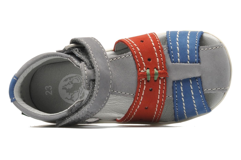 Sandales et nu-pieds Kickers BIGBAZAR Gris vue gauche