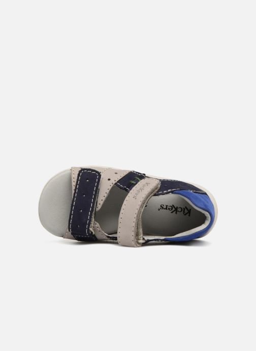 Sandales et nu-pieds Kickers BOPING Gris vue gauche