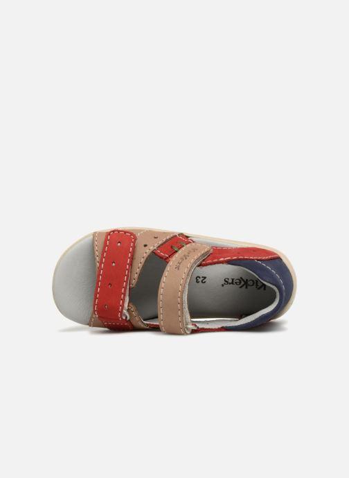 Sandales et nu-pieds Kickers BOPING Beige vue gauche