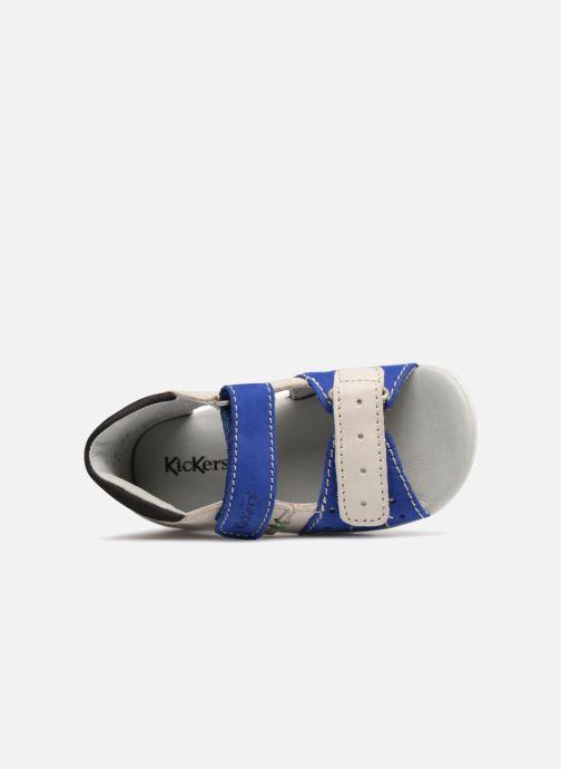 Sandalias Kickers BOPING Azul vista lateral izquierda