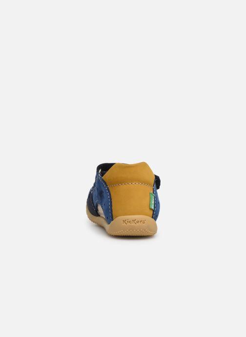 Sandalen Kickers BOPING blau ansicht von rechts