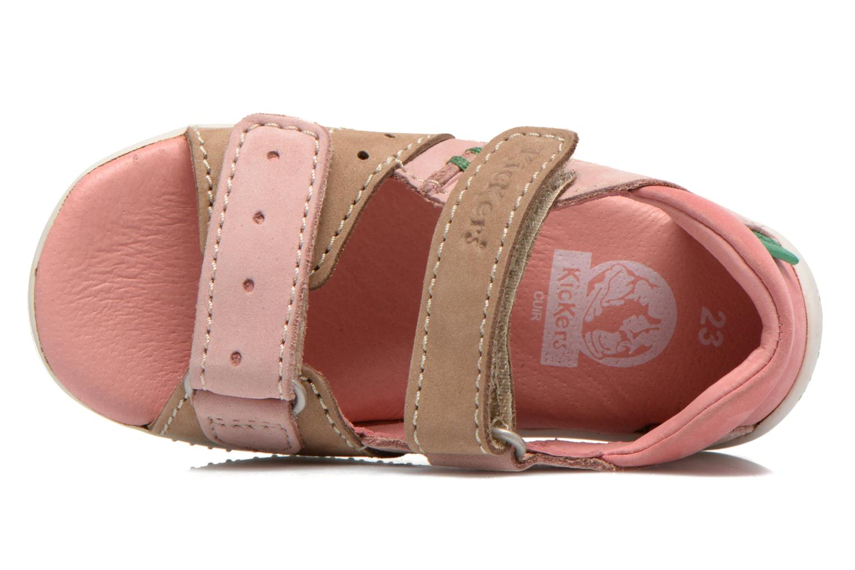 Sandales et nu-pieds Kickers BOPING Rose vue gauche