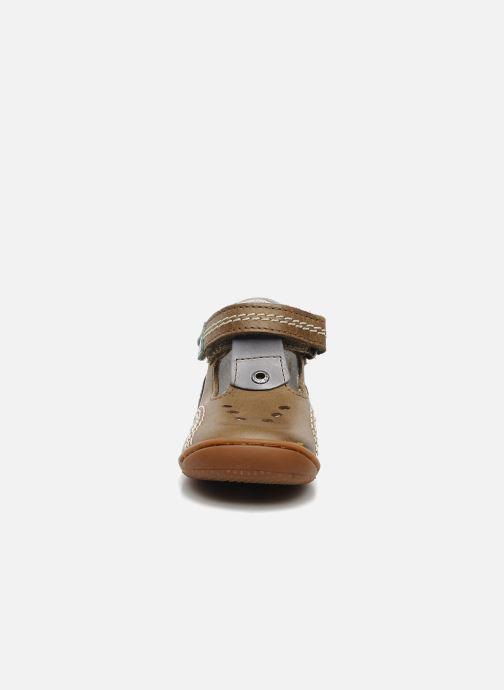 Bottines d'été Kickers GULLI Marron vue portées chaussures